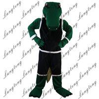 trajes deportivos verdes al por mayor-2018 Nueva alta calidad Sport Green cocodrilo Disfraces de la mascota para adultos circo navidad traje de Halloween traje de lujo traje envío gratis011