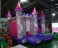castelo inflável para crianças venda por atacado-Castelo inflável da princesa inflável bouncer trampolim casa de salto com escorregador para crianças frete grátis