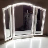 ingrosso kit di striscia leggera a 12v-Kit luce led Strip 13ft / 4M 240 LED Trucco luci specchio per il trucco Dimmer String Trucco Tavolo Set per TV bagno soggiorno lampade decorative
