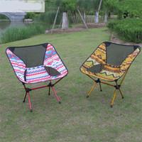 kostenlose klappstühle großhandel-Tragbare Klappstuhl Robust Bequem Ultraleicht Strand Sitze Für Wandern Angeln Camping Outdoor Rückenlehne Stühle Kostenloser Versand 140tq Z