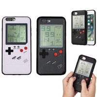 Wholesale Iphone Back Covers Unique - Unique Multi Phone Case for iPhone 6 6s 7 7plus 8plus X TPU Back Protect Cover Childhood Gift Classic Game Tetris Phone Case