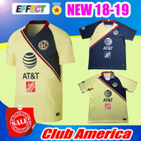 Wholesale football clubs - NEW Arrived TOP Quality 2018 2019 LIGA MX Club America soccer Jerseys home away Third Green Yellow 18 19 Camisetas O.Peralta football shirts