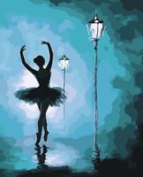 pintores de óleo dançarinos venda por atacado-Pintar por números Dancer Pintura a óleo para adultos Iniciantes Diy Digital Paintings Kit com pincéis de tintas acrílicas