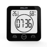 temporizadores de ducha al por mayor-Nuevo reloj de pared digital de la ducha a prueba de agua reloj de temperatura de humedad temporizador 3pcs