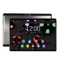 ingrosso android pc tablet tablet sim-Spedizione gratuita 10 pollici Android 7.0 OS Tablet PC Octa Core 4 GB RAM 64 GB ROM Dual Sim card 5.0 MP 2.5D vetro temperato Tablet 10,1