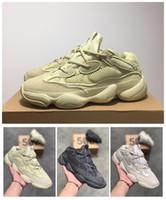 beste tennis-turnschuhe großhandel-Kanye West 500 Wave Runner Beste Qualität Klassische Sportliche Laufschuhe Mit Wave Runner 500 Kanye West Sportschuhe Mode Sneaker Mit Box