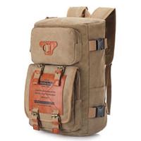 780d453ce7 Men Women Vintage Canvas Backpack Rucksack School Satchel Carry Bag Outdoor  Travel Hiking Camping Daypack Totes Bag