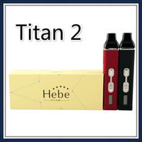 ecig vaporizer kits großhandel-Titan 2 Kit Trockene Kräuter-Verdampfer E-Zigarette Trockene Kräuter verbrennen Verdampferstift 2200mAh LCD-Anzeige Titan II Dampf HEBE Ecig