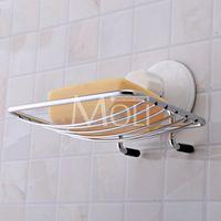 ingrosso portaoggetti a ventosa-Portasapone a parete in acciaio inossidabile con ventosa cromata Porta sapone a ventosa Porta sapone da doccia Accessori da bagno