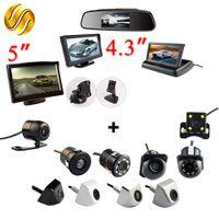 katlanabilir aynalar toptan satış-Araç Kamera 2in1 Araç Park Sistemi Seti 4.3 \