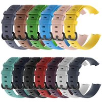 Wholesale women s bracelet watch bands for sale - Group buy 13 Color S L Two Size for Fitbit Charge Strap Men Women Replacement Bracelet Silicone Band Diamond Pattern Smartwatch Accessies