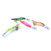 Wholesale squid jigging lures online - squid hook bait FISH KING PC Color cm Jigs Fishing Lure Shrimp Flick Luminous Squid Hook Bait Glow In The Dark