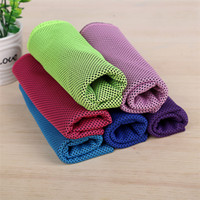 Wholesale magic cool towel wholesale - Color Magic Cold Towel Exercise Fitness Sweat Summer Ice Towel Outdoor Sports Ice Cool Towel Hypothermia 90x35cm Cooling Towels T1I303