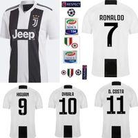 Wholesale new away - New 2019 RONALDO JUVENTUS Soccer Jersey 18 19 JUVE 2018 Home Away DYBALA HIGUAIN Football Shirt CRISTIANO Uniform Team