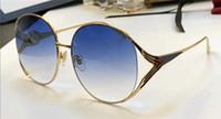 Wholesale Circular Lenses - New fashion designer sunglasses 0225 metal circular frame avant-garde minimalist style top quality uv400 lenses popular protection eyewear