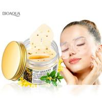 удалять золото оптовых-Горячая BIOAQUA Gold Osmanthus Eye Mask Коллагеновый гель Сывороточный протеин для сна Патчи для удаления темного круга Увлажняющая маска для глаз