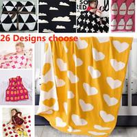 Wholesale Thin Cotton Blanket - 90*100cm Cotton Knitted Blanket Baby Newborn Cartoon Air Condition Blanket Thin Quilts Children Bed Sofa Sheet Blankets WX9-230