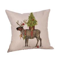 Wholesale santa claus bedding christmas for sale - Group buy 2018 Pillow Case Christmas Santa Claus Linen Cushion Cover Throw Pillow Case Sofa Bed Home Decor NEW DE14