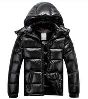 Wholesale mens cotton detachable collar resale online - Men Women brand Casual Down Jacket mens Down Coats Womens Outdoor Fur Collar Warm Unisex Winter warm Coat outwear Parkas SIZE S XL