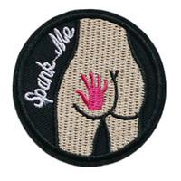 jeans mes venda por atacado-Remendo bordado Espancar Me Sewing Iron On Patches Emblema Para O Saco de Calça Jeans Chapéu Apliques DIY Sticker Decoração Acessórios de Vestuário