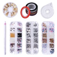 Wholesale beginners art resale online - foreverlily Set Nail Art Decoration Kit Set with Metalwire Boxes Nail Decor Decor Pencil Beginner Basic Tools