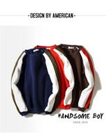 "Wholesale Men S Winter Fashion Trends - Autumn and winter new men ""s long-sleeved sweater men's wear style Aberdeen mixed colors fashion trend set men's tide tide"
