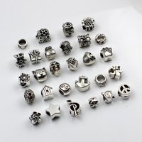 Wholesale zodiac accessories for sale - 28pcs mm Hole diameter Mix Styles Loose Beads Charm DIY Jewelry Accessory Pendant For Keyring Bracelet Necklace