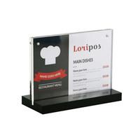 Desk Set 10pcs 21*29.7cm A4 Acrylic Magnetic Label Holder Stand Poster Banner Menu List Frame Advertising Desk Sign Holder Display Stand Desk Accessories & Organizer