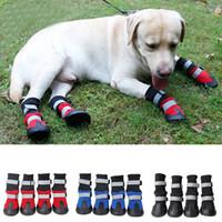 ingrosso scarpe da compagnia cane rosso-Articoli per animali domestici all'ingrosso, scarpe da compagnia, stivali caldi per cani autunnali e invernali, scarpe medie e grandi per cani, nero, rosso, blu, spedizione gratuita