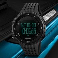 цифровые часы для дайвинга оптовых-Горячий продавец Марка мужчины мальчики будильник цифровой LED 50 м водонепроницаемый наручные часы Спорт Повседневная Dive Analog Smart Relogio Masculino часы