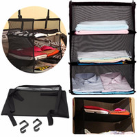 Wholesale 3 Tier Collapsible Hanging Organizer Closet Luggage Clothes Bag Shelf Storage