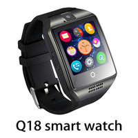 Wholesale nfc bluetooth smart watch online – Top quality Q18 Bluetooth Smart Watch Support SIM Card NFC Connection Health Smartwatches For Android Smartphone