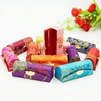 matériaux sac cosmétique achat en gros de-1 PC Haute Qualité Fleur Tissu Coton Matériel Cosmétique Sacs De Mode Imprimé Femmes Rouge À Lèvres Boîte De Rangement Couleur Aléatoire