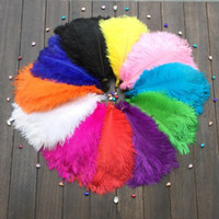 Wholesale feathers 25 inches online - High Quality pcs10 Inches cm Natural Ostrich Feathers A Variety of Color Choices Wedding Decorations