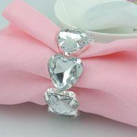 металлические украшения из сердца оптовых-peach hearts Acrylic Metal Napkin Rings Hotel / Wedding Supplies Party Table Decoration Accessories R210