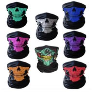 Wholesale ghost balaclavas - wholesale Motorcycle SKULL Ghost Face Windproof Mask Beanie Hat Outdoor Sports Warm Ski Mask Caps Bicyle Bike Balaclavas Bonnet Scarf Man