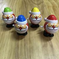 velho avião brinquedo venda por atacado-Acabar com brinquedos Papai Noel Clockwork cadeia salto andar com abrir boca fechada brinquedos engraçados Decoração de Natal das Crianças Vingate Presente DHL
