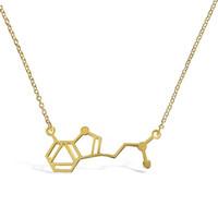 Wholesale chemistry necklace resale online - New DMT Molecule Long Pendants Chemistry Structure Necklace Silver Gold color Science Necklaces