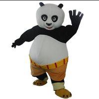 panda fantasia venda por atacado-2018 de alta qualidade adulto kungfu panda traje da mascote kung fu panda traje da mascote kungfu panda fancy dress frete grátis