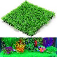 Wholesale Fish Mounts - NEW Fish Tank Square Artificial Grass Lawn Aquarium Fake Grass Mat For Home Decoration
