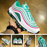 Wholesale authentic quality shoes - 97 South Beach Running shoes with box Men Women Authentic Quality 97 trainers Sneakers free shipping