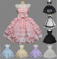 tallas grandes viste los arcos grandes al por mayor-Encaje Sweet Lolita Dress por encargo Plus Size Big Bow L8