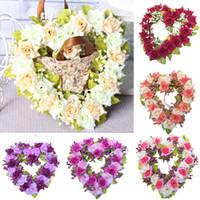Wholesale Silk Flower Heart Wreath Buy Cheap Silk Flower Heart