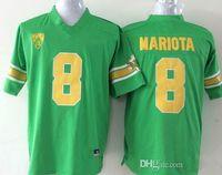 patos amarelos venda por atacado-2019 NCAA 8 Marcus Mariota Jersey Colégio Oregon Ducks Camisas De Futebol Verde Preto Amarelo Branco jersey S-3XL