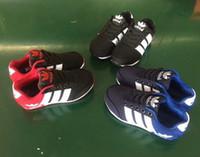 ingrosso scarpe classiche-Alta qualità ADDAS bambini Scarpe da corsa jogging scarpe di tela casual design classico per bambini sport sneakers