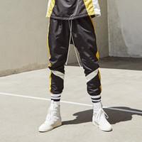 pantalon de danse homme achat en gros de-Daniel Patrick Stitching Drawstring Pants Pantalon de survêtement Street Dance Casual Pantalon ample de luxe Hommes Femmes Sport Fitness Pantalon