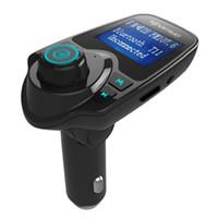 bluetooth lcd ekranı toptan satış-Araba MP3 Audio Player Bluetooth FM Verici Kablosuz FM Modülatör Araç Kiti HandsFree iPhone Samsung için LCD Ekran USB Şarj