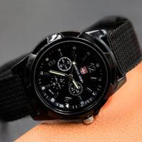 banda de nylon del reloj del ejército al por mayor-Reloj de pulsera de nylon para hombre Gemius Army reloj Movimiento de cuarzo de alta calidad Hombre deportes Relojes de pulsera casual zegarki meskie