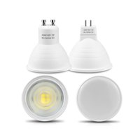 Wholesale Plastic Spotlights - No Dimmable GU10 MR16 LED Spotlight 220V 7W COB Chip Beam Angle 120 30 Plastic Aluminum Cool Spot light Table Ceiling Bombillas