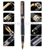 fonte de picasso preto venda por atacado-Caneta Picasso homens e mulheres verdadeiros dedicados Black Gold Fountain Pen 902 presente